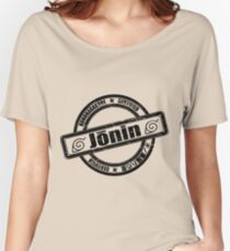 Konoha Jonin Black Distressed Women's Relaxed Fit T-Shirt