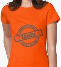 Konoha Jonin Grey Distressed Women's Fitted T-Shirt