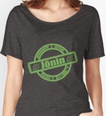 Konoha Jonin Green Distressed Women's Relaxed Fit T-Shirt