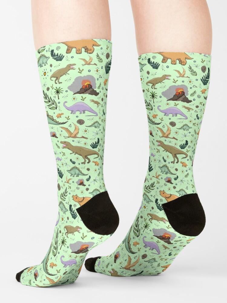 Alternate view of Dinosaurs in Green Socks