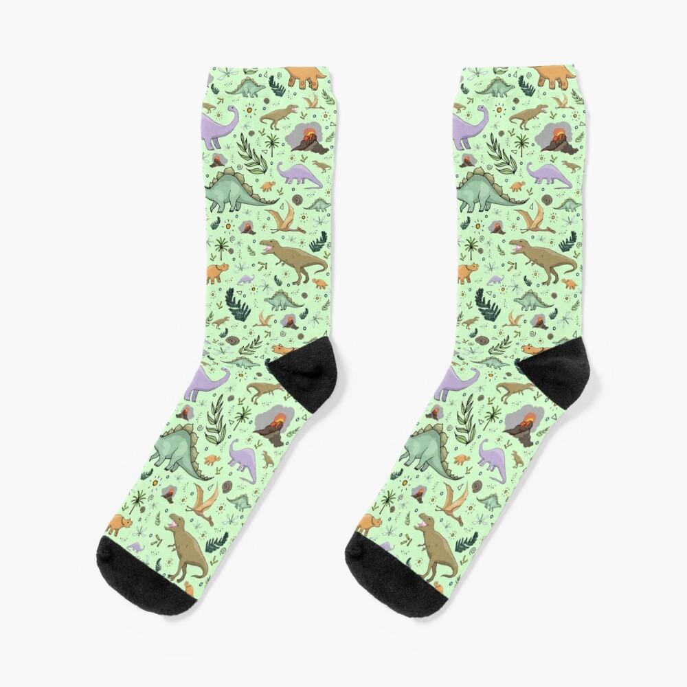 Dinosaurs in Green Socks
