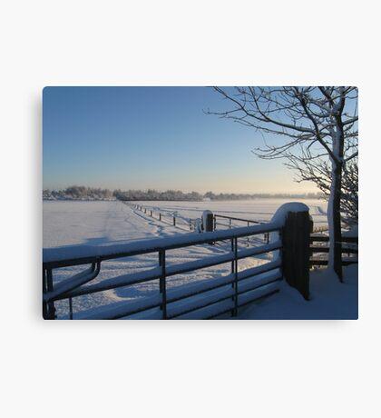 Snowy Gates Canvas Print
