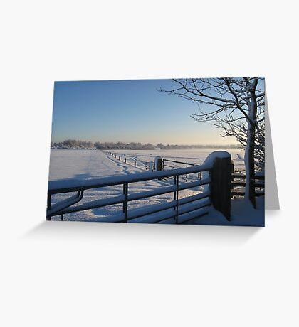 Snowy Gates Greeting Card