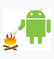 Android eats a marshmallow Photographic Print