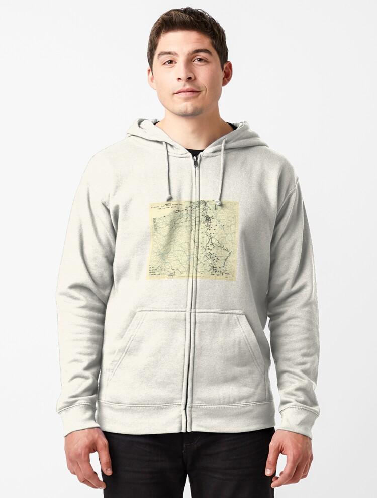 Twelfth United States Army Group Mens Full-Zip Hoodie Jacket Pullover Sweatshirt