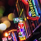 Where All The Lights Are Bright— Broadway, Nashville Tennessee by Amanda White