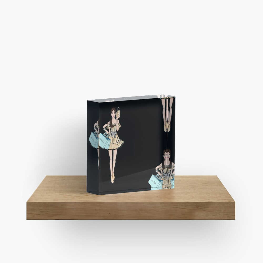 Let's go shopping Acrylic Block