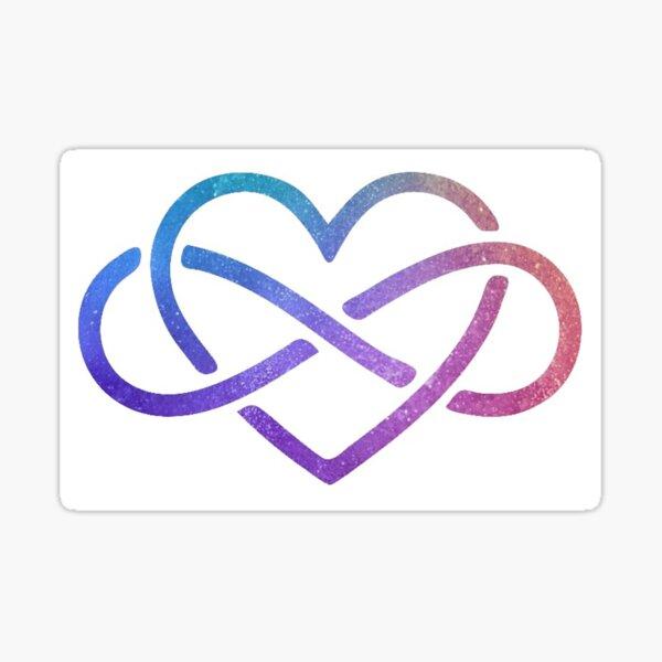 Starry Rainbow Infinity Heart Sticker