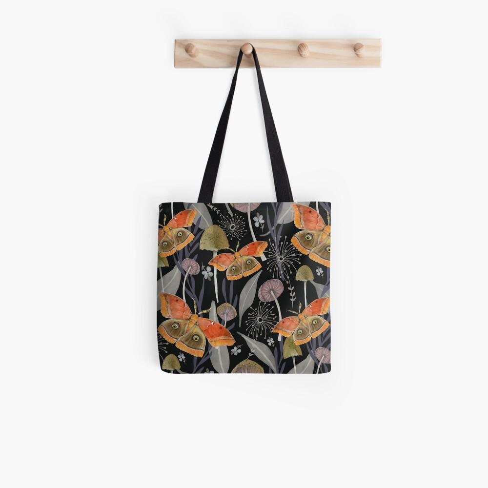 Midnight Moth Tote Bag