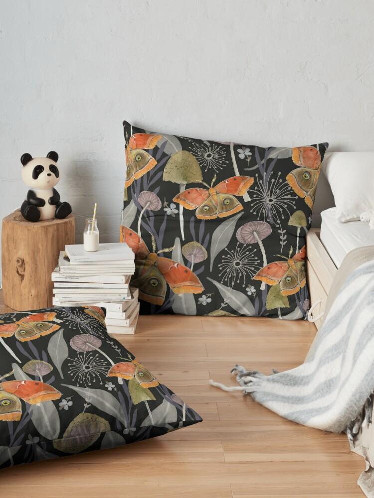 Alternate view of Midnight Moth Floor Pillow
