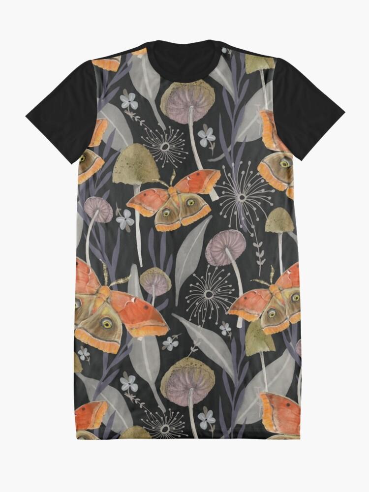 Alternate view of Midnight Moth Graphic T-Shirt Dress