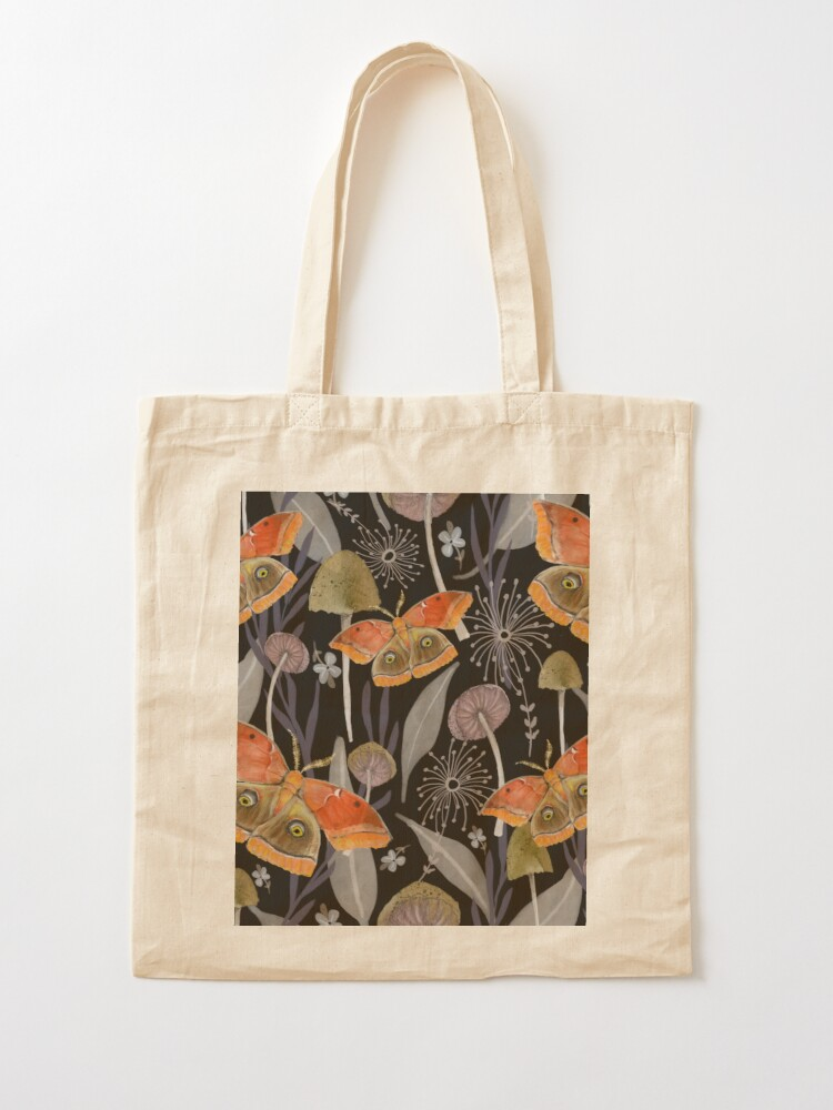 Alternate view of Midnight Moth Tote Bag