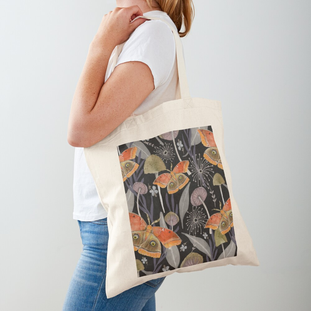 Midnight Moth Tote Bag
