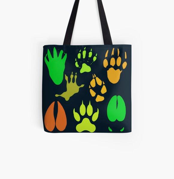 Neon Tracks Animal Prints Digital Art All Over Print Tote Bag