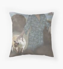 Jasmine goes to the beach with Aunt Pam Throw Pillow