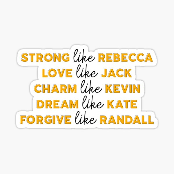 Live Like This Is Us Sticker