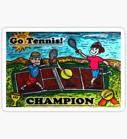 Go Tennis Sticker