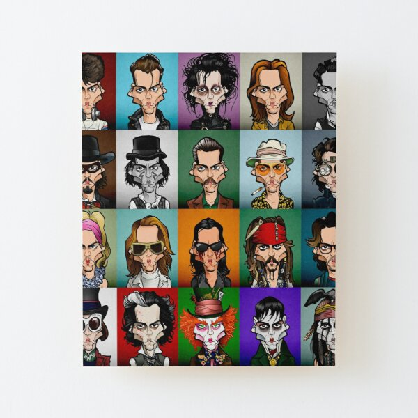 Here's Johnny! Wood Mounted Print