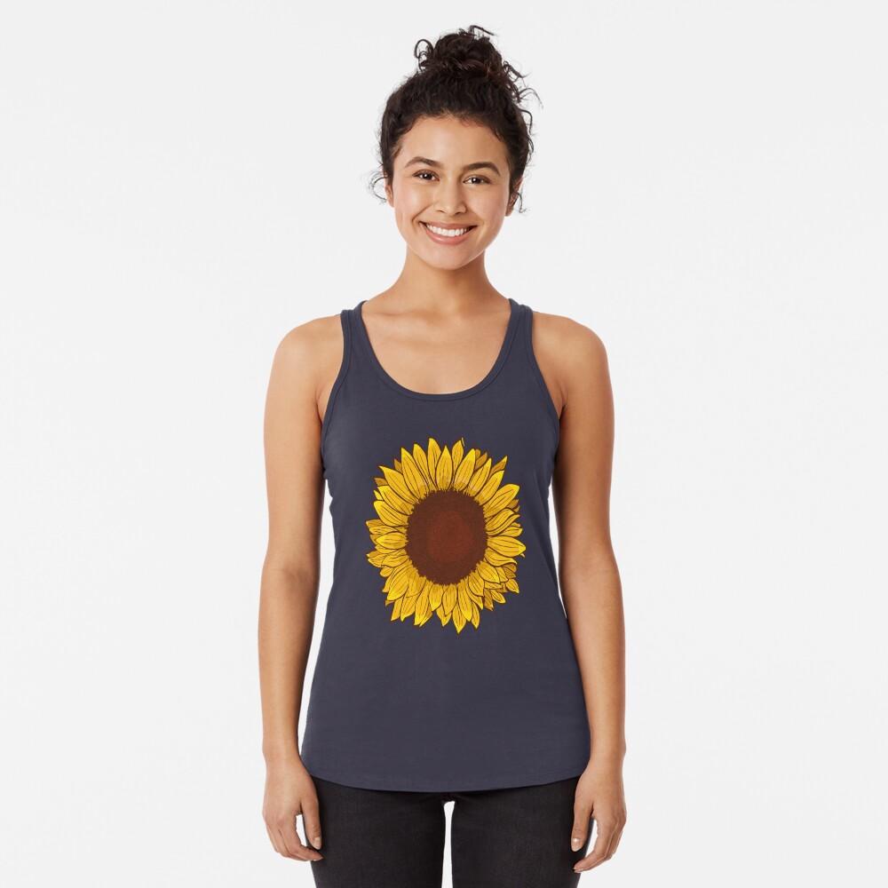 Sunflower Racerback Tank Top