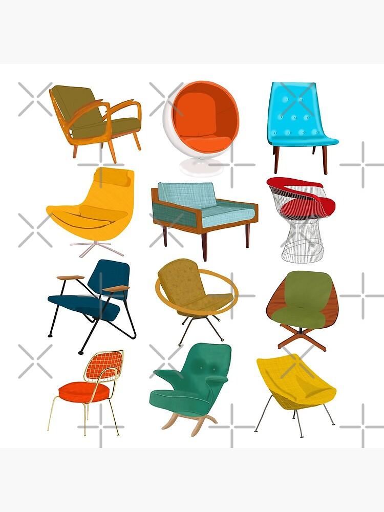 Mid Century Modern Chair Collection by jenbucheli
