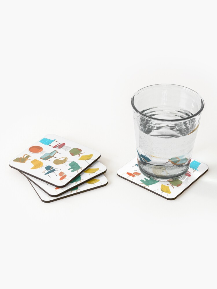 Alternate view of Mid Century Modern Chair Collection Coasters (Set of 4)