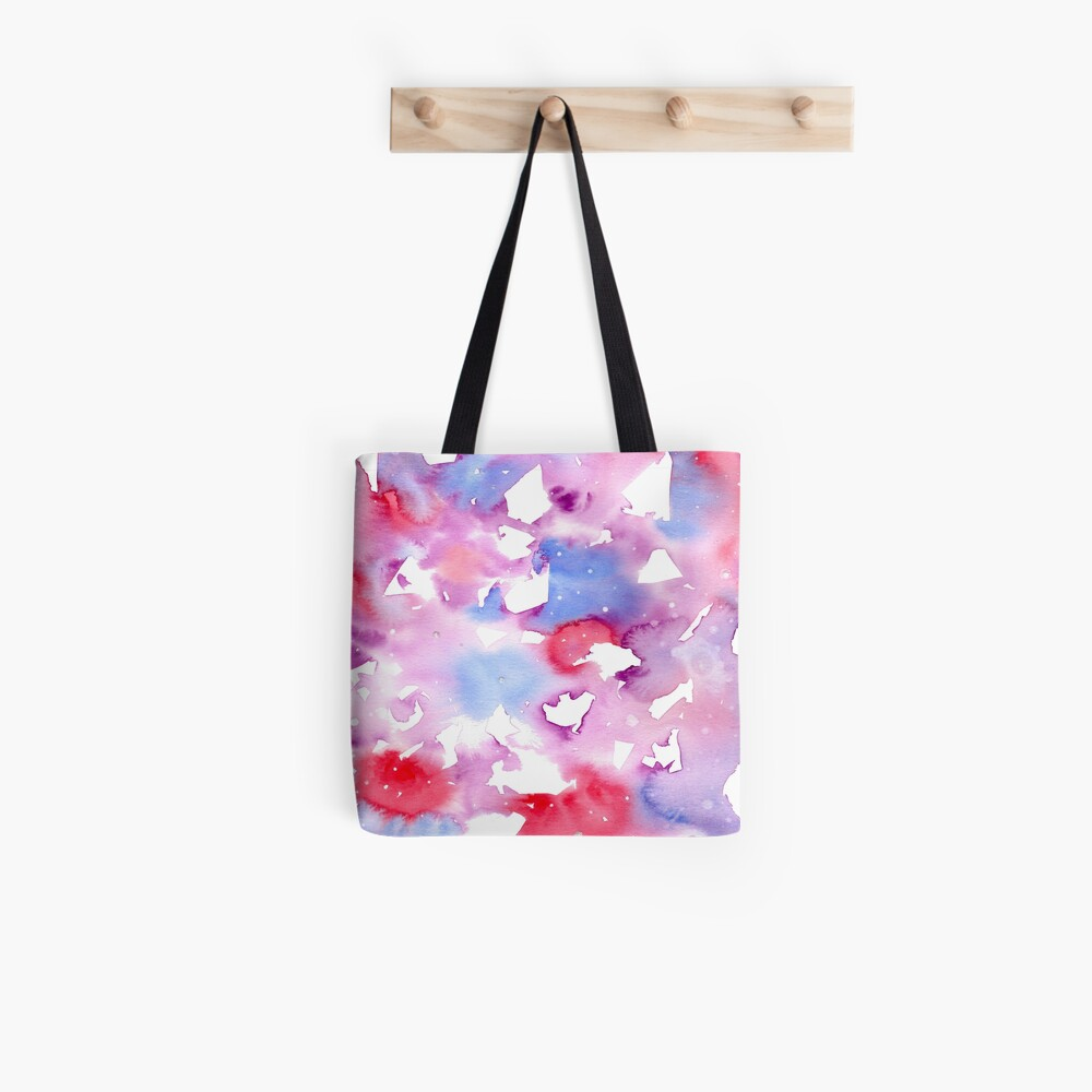 Pink Abstract Freedom Tote Bag