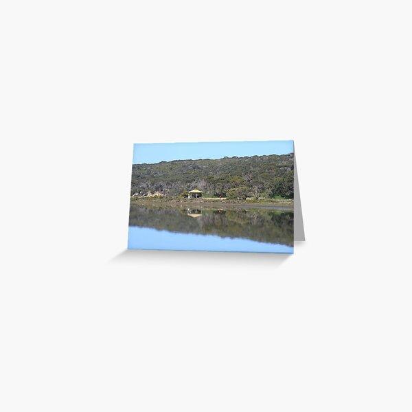 Reflections,Bird Lake, American River, Kangaroo Island,South Australia. Greeting Card