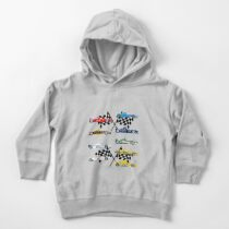 Formula1 Collage Cars Heaven Toddler Pullover Hoodie
