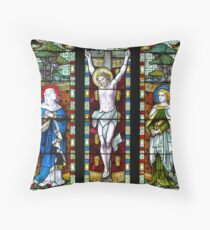 Stained Glass Window Photography 0008 Throw Pillow