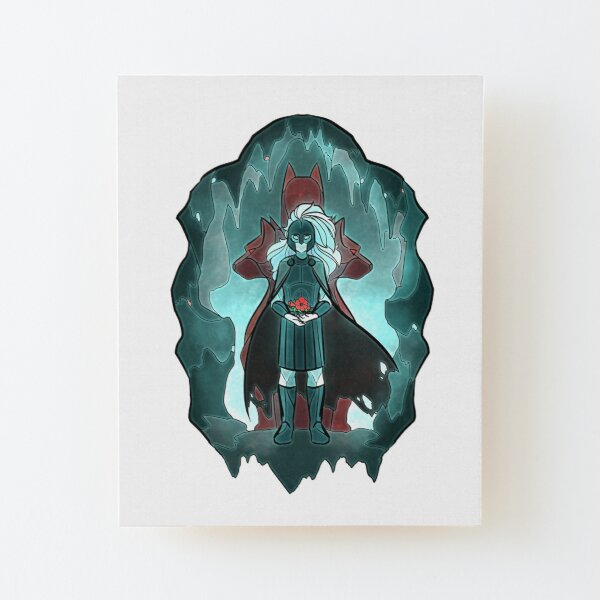 Stained Glass: Hades Wood Mounted Print