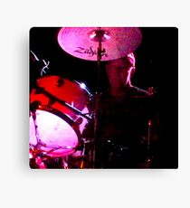 Cliffy on drums Canvas Print