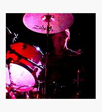 Cliffy on drums Photographic Print