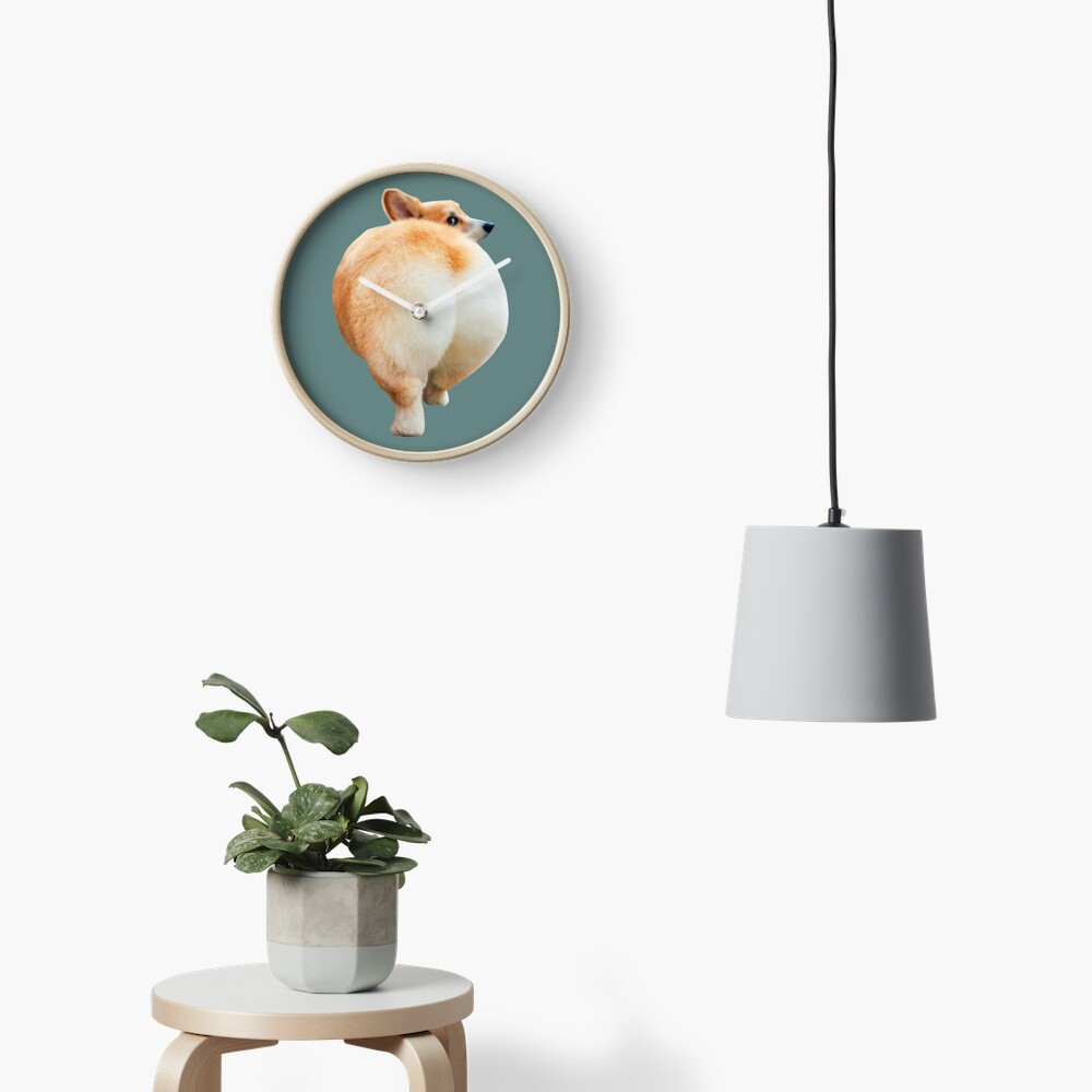 Corgi Butt Clock