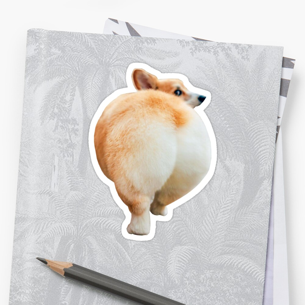 Corgi Butt Sticker