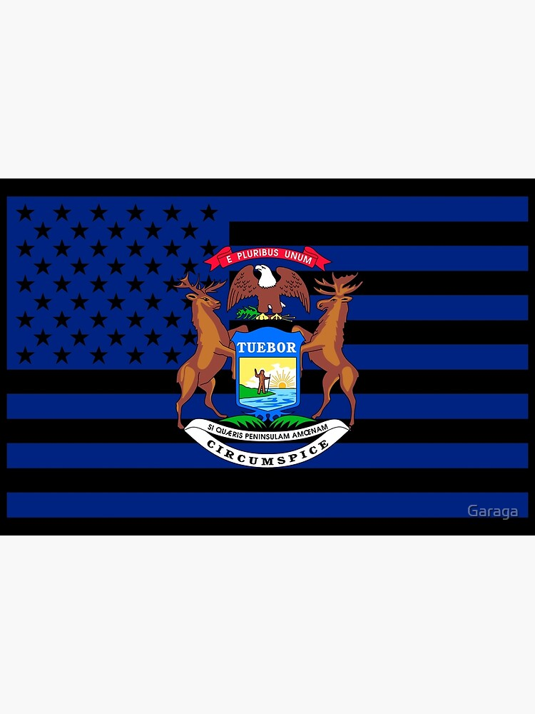 Michigan State Flag Graphic USA Styling by Garaga