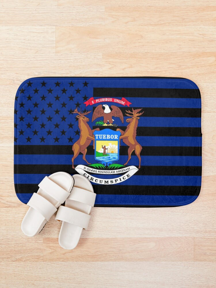 Alternate view of Michigan State Flag Graphic USA Styling Bath Mat