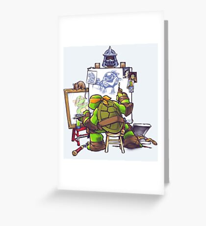 Ninja Rockwell Greeting Card