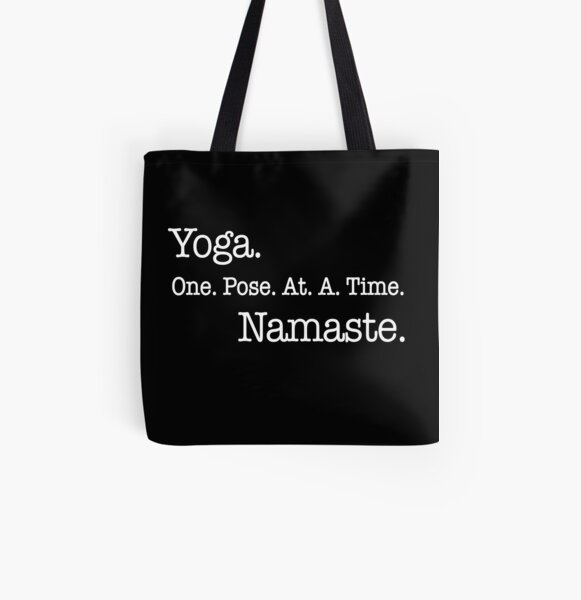 Yoga One Pose At A Time Namaste All Over Print Tote Bag