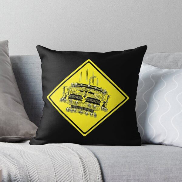 Watch Out for Falling Chandeliers Throw Pillow