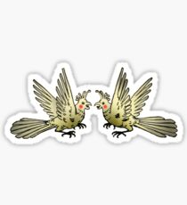 Cockatiel Duel Sticker