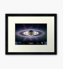 Saturn Eclipsing the Sun Framed Print
