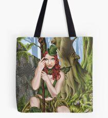 Irish Green Fairy Leprechaun Tote Bag