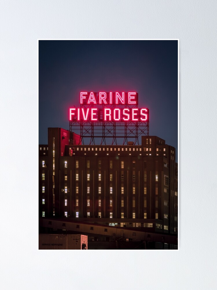 Alternate view of Farine Five Roses Night Poster