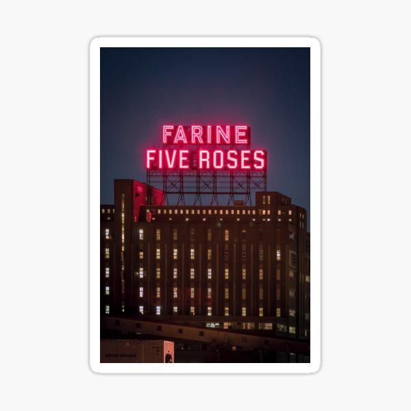 Farine Five Roses Night Montreal Sticker