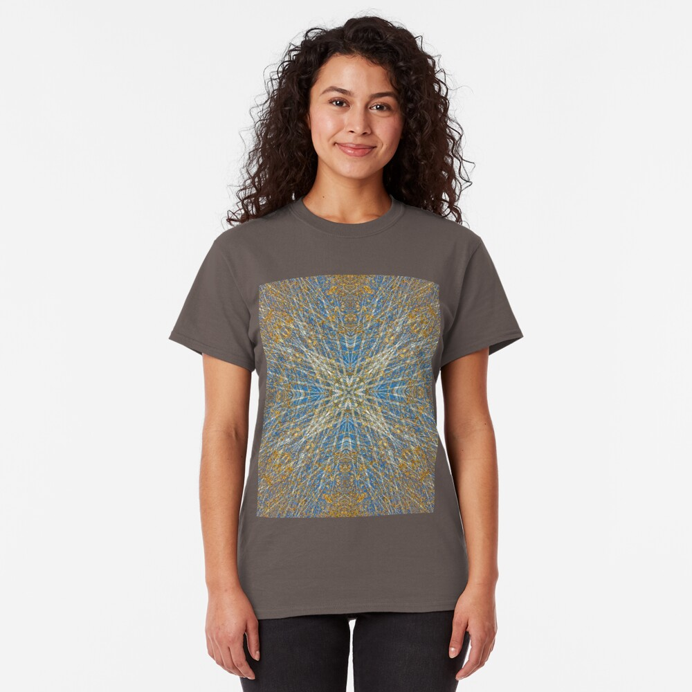 BLUE SKY AND AUTUMN BIRCH TREES MANDALA Classic T-Shirt