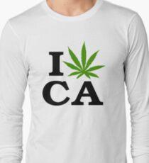 I Love Marijuana California Cannabis Long Sleeve T-Shirt