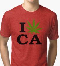 I Love Marijuana California Cannabis Tri-blend T-Shirt