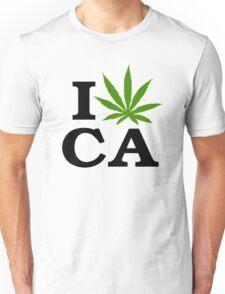 I Love Marijuana California Cannabis Unisex T-Shirt