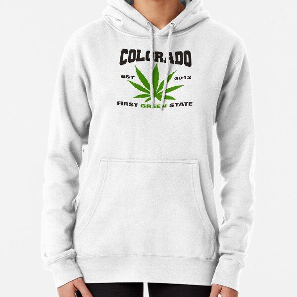Marijuana Colorado First Green State Est 2012 Pullover Hoodie
