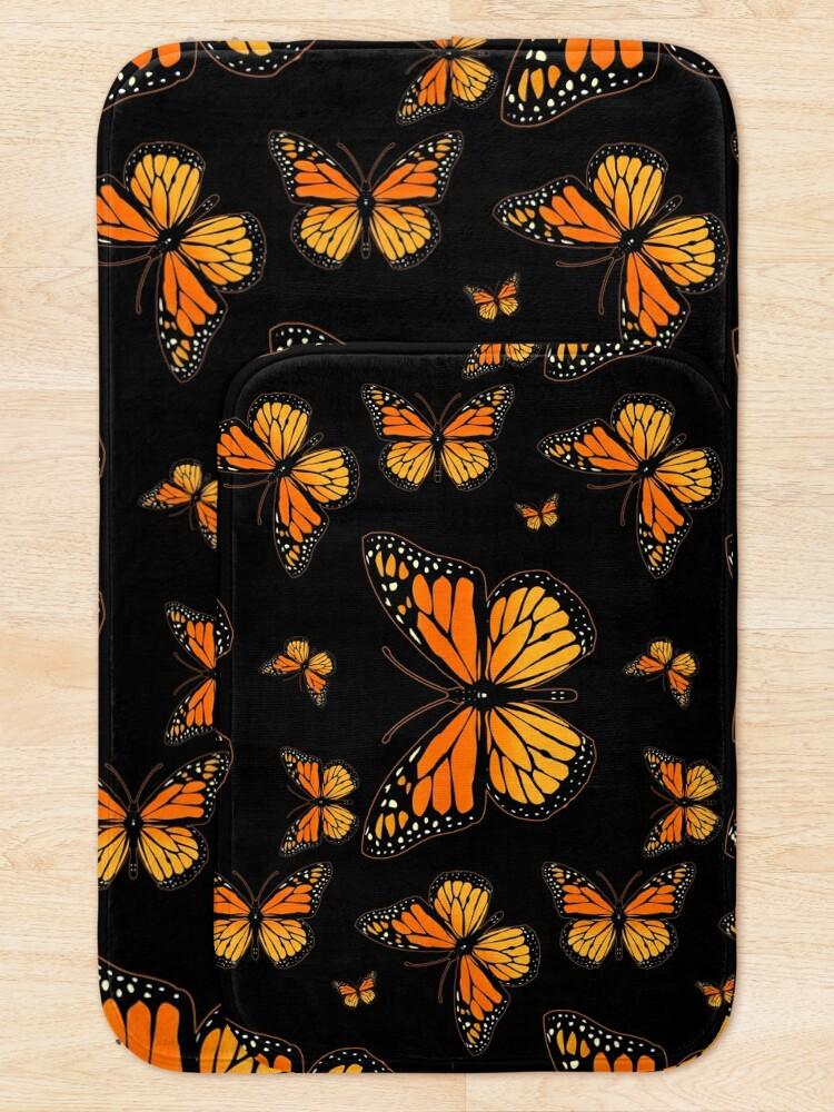 Alternate view of Monarch Butterfly Rapsody Bath Mat